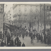 Parade of African American Regimental Band in France, c. 1917-1919